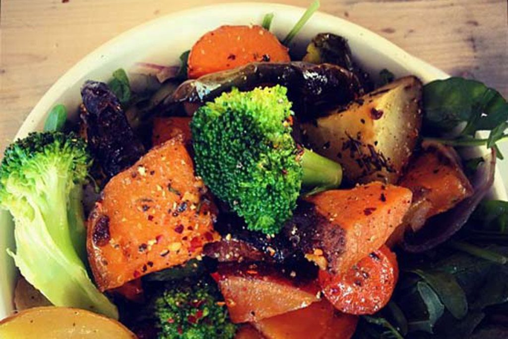 Easy Roasted Rooted Veggies